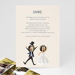 Danksagungskarten Hochzeit  - Hoch lebe das Paar! - 0