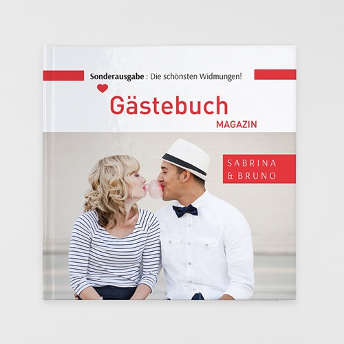 Fotobuch Quadratisch 30 x 30 cm - Gästebuch Rot 36831