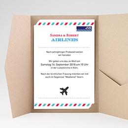 Hochzeitskarten Querformat - Airlines - 0