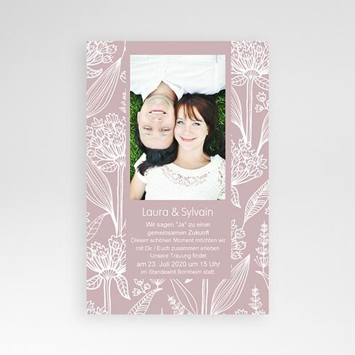 Hochzeitskarten Querformat - Blütenzauber 36917