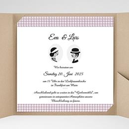 Hochzeitskarten Quadratisch - Lady and Gentleman - 0