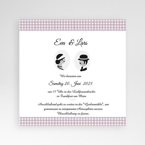 Hochzeitskarten Quadratisch - Lady and Gentleman 36977