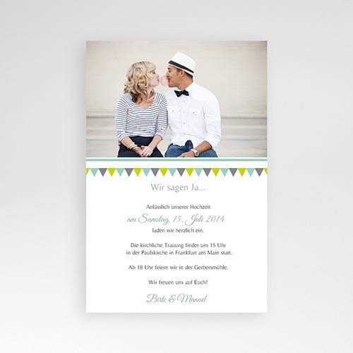 Hochzeitskarten Querformat - Vintage Charme 37013