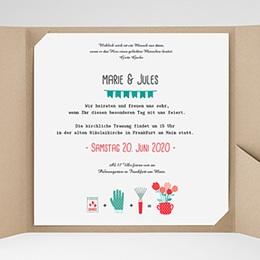 Hochzeitskarten Quadratisch - Liebesbeet - 0