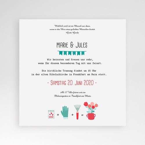 Hochzeitskarten Quadratisch - Liebesbeet 37073