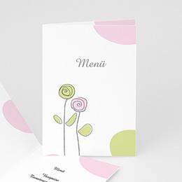 Menükarten Hochzeit  - Blumen in Pastelltönen - 1