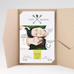 Hochzeitskarten Querformat - Liebespfeil - 0