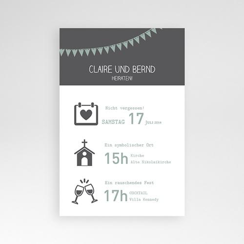 Hochzeitskarten Querformat - Festive 37121
