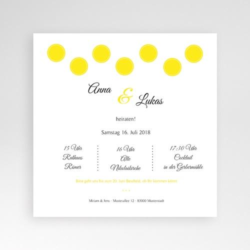 Hochzeitskarten Quadratisch - Inspiration Zitrone 37169