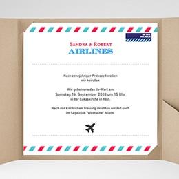 Hochzeitskarten Quadratisch - Airlines - 0