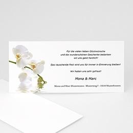 Danksagungskarten Hochzeit  - Hochzeitskarte Orchidee - 1