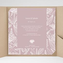 Hochzeitskarten Quadratisch - Blütenzauber - 0