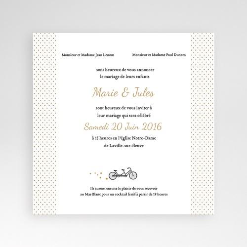 Hochzeitskarten Quadratisch - Tandem 37337