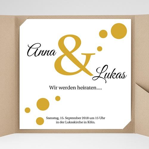Hochzeitskarten Quadratisch - Konfetti 37346