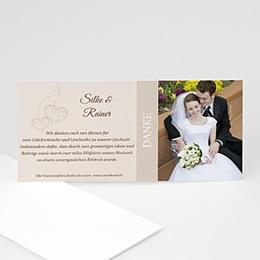 Danksagungskarten Hochzeit  - Hochzeitskarte Herz pur - 1