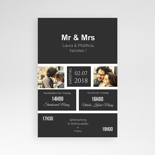 Hochzeitskarten Querformat - Mr & Mrs 37511