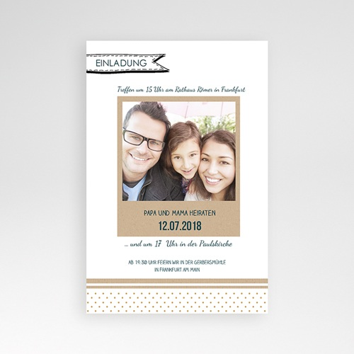 Hochzeitskarten Querformat - Detailverliebt 37595