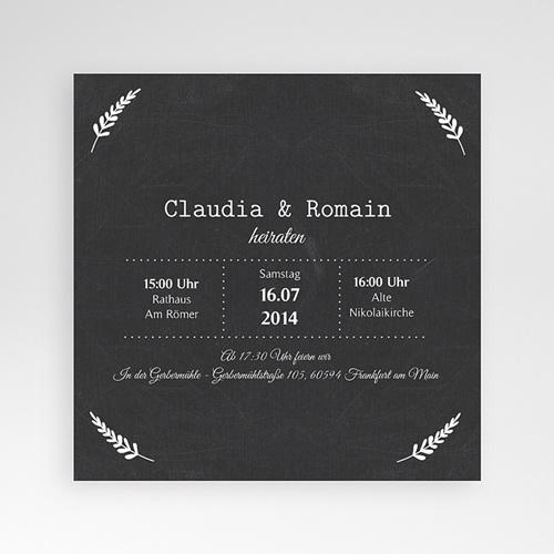 Hochzeitskarten Quadratisch - Tafelstil chic 37679
