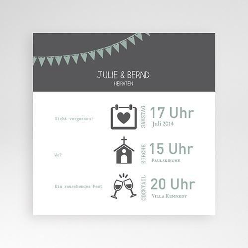 Hochzeitskarten Quadratisch - Festive 37751