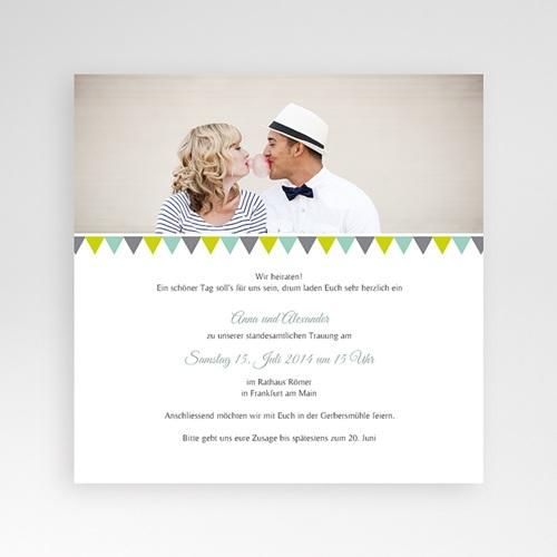Hochzeitskarten Quadratisch - Vintage Charme 37799