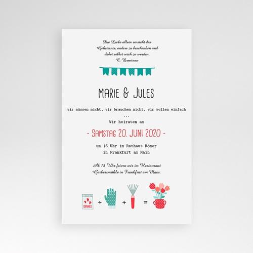 Hochzeitskarten Querformat - Liebesbeet 37835