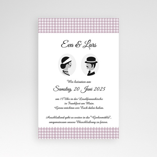 Hochzeitskarten Querformat - Lady and Gentleman 37871