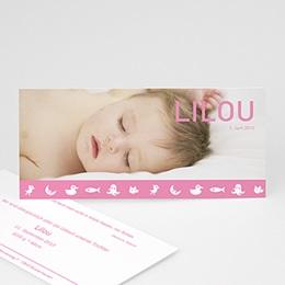 Geburtskarten für Mädchen - Babykarte Lilou - 1