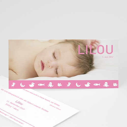 Geburtskarten für Mädchen - Lilou 3788