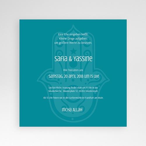 Hochzeitskarten Quadratisch - Kashmira 37931