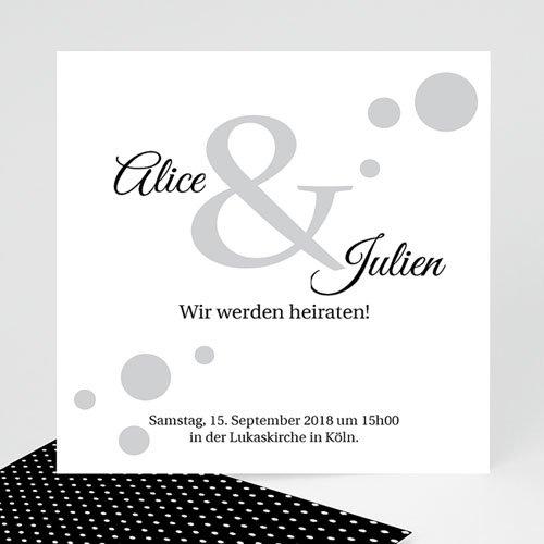 Hochzeitseinladungen modern - Traumhaft elegant  38006