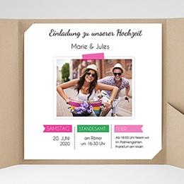 Hochzeitskarten Quadratisch - Pop Charme - 0