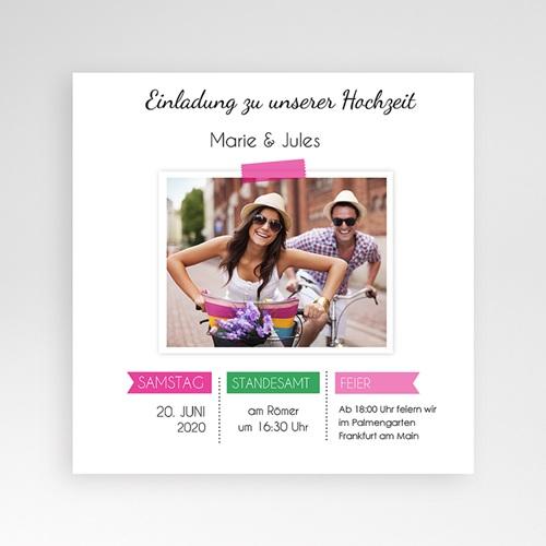 Hochzeitskarten Quadratisch - Pop Charme 38060