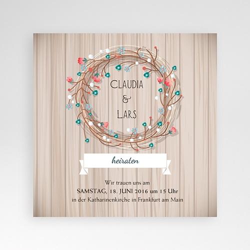 Hochzeitskarten Quadratisch - Landhochzeit 38076