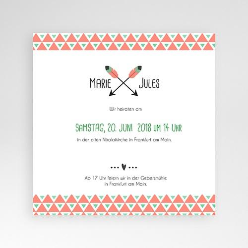Hochzeitskarten Quadratisch - Shabby Chic  38092