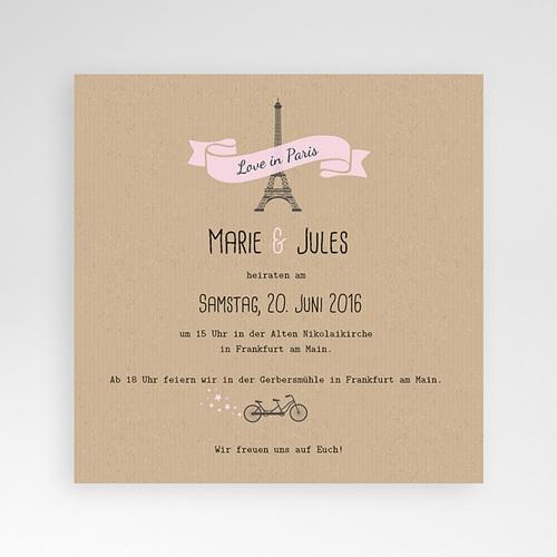 Hochzeitskarten Quadratisch - Love in Paris 38100