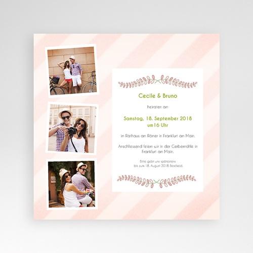 Hochzeitskarten Quadratisch - Streifendesign 38108