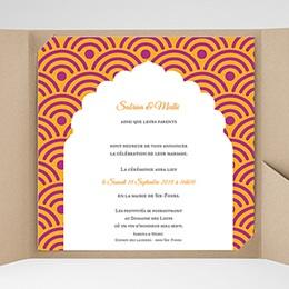 Hochzeitskarten Quadratisch - Marrakech Ambiente - 0