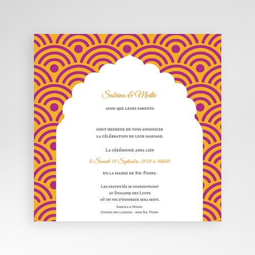 Hochzeitskarten Quadratisch - Marrakech Ambiente 38116
