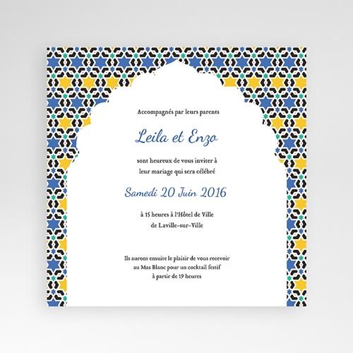 Hochzeitskarten Quadratisch - Casablanca 38124
