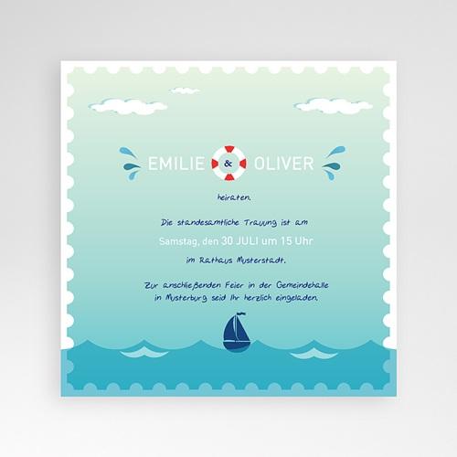 Hochzeitskarten Quadratisch - Anker 38152