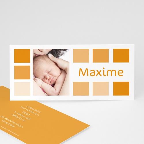 Geburtskarten für Mädchen - Orangetöne 3816