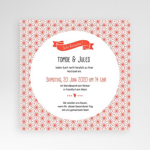Einladungskarten Hochzeit Quadratisch -Origami 05128