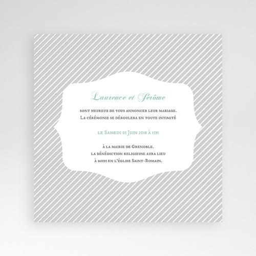 Hochzeitskarten Quadratisch - Schwarz-weiss gestreift 38184