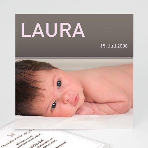 Geburtskarten für Mädchen - Geburtskarte Laura 1 3824