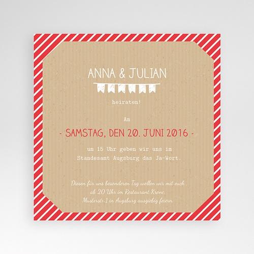 Hochzeitskarten Quadratisch - Gestreift 38244