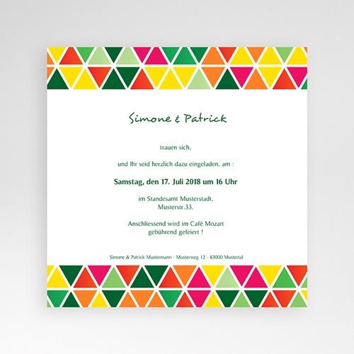 Hochzeitskarten Quadratisch - Tropical 38260