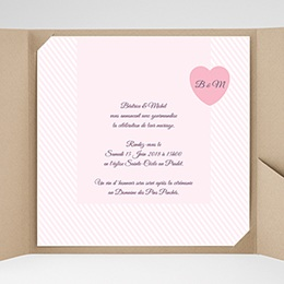 Hochzeitskarten Quadratisch - Rose Bonbon - 0