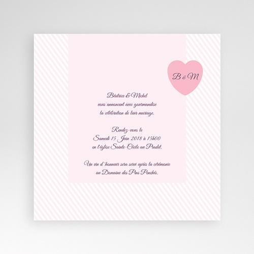 Hochzeitskarten Quadratisch - Rose Bonbon 38272