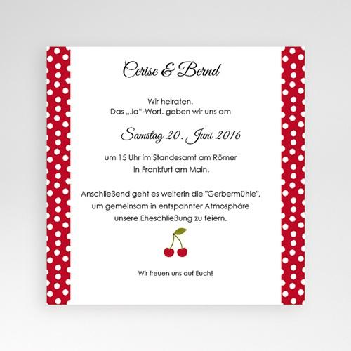 Hochzeitskarten Quadratisch - Rote Kirschen 38292