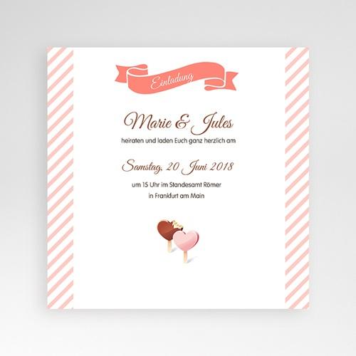 Hochzeitskarten Quadratisch - Gourmandise 38300